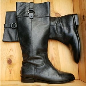 Banana Republic 6 Pebbled Leather Riding Boots